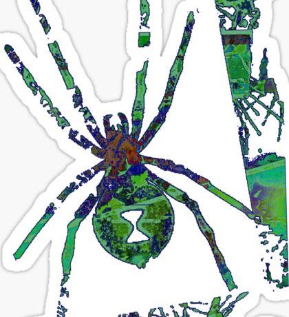 Arachnophilia-Green Sticker