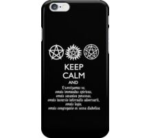 SUPERNATURAL - SPEAKING LATIN iPhone Case/Skin