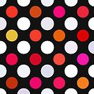 Retro Dots in Shades of Red by Julie Everhart
