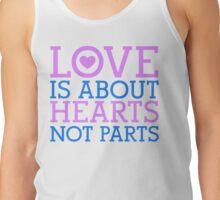 Love Hearts, Not Parts Tank Top
