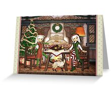Gingerbread Elves House Christmas Card Greeting Card