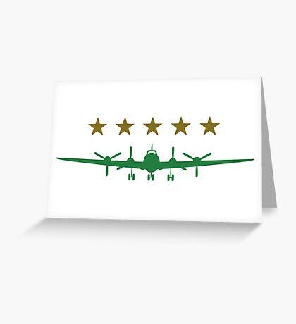 Propeller aircraft Greeting Card
