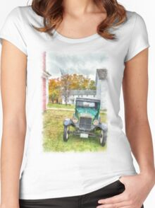 Ford Model A Sedan Women's Fitted Scoop T-Shirt