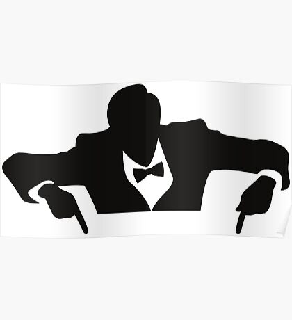 Cool guy in a tuxedo Poster