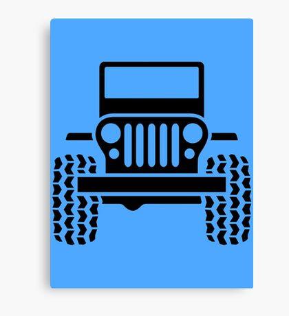 Jeep - blue Canvas Print