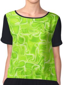 Green waves Chiffon Top