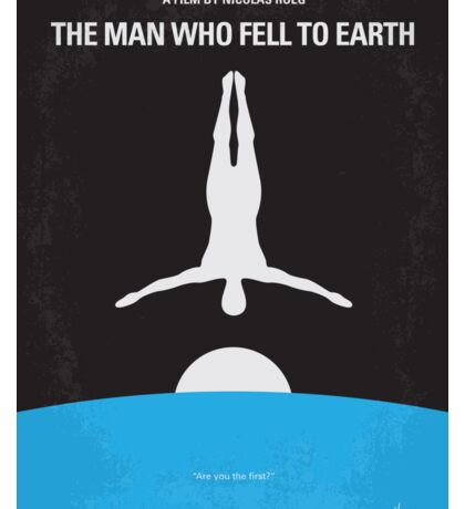 No208 My The Man Who Fell to Earth minimal movie poster Sticker