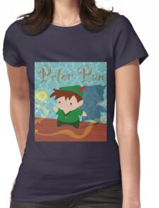 Cute Peter Pan Womens Fitted T-Shirt