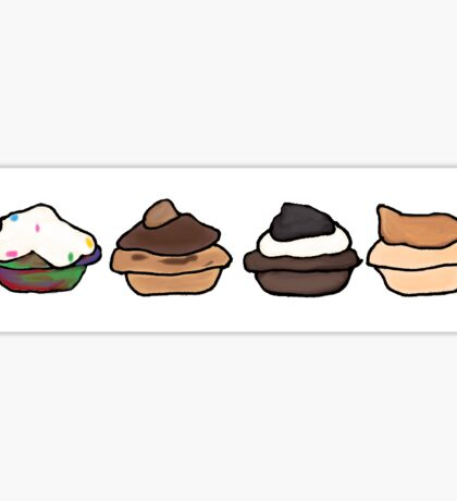 mini cupcakes Sticker