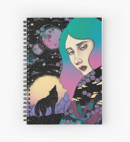 Boreal wolf Spiral Notebook