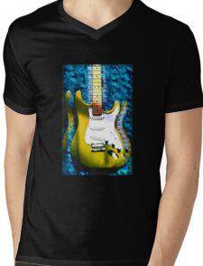 Electric Guitar #2 YELLOW Mens V-Neck T-Shirt