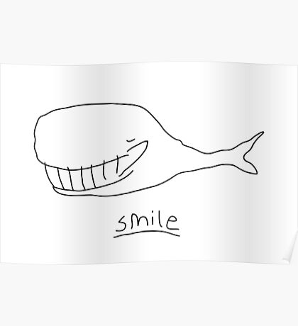 Cheshire Whale Poster