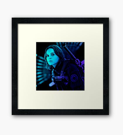 Jyn Erso (Graphic T-shirt) Framed Print