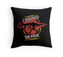 I survived the park Throw Pillow