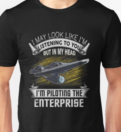 Piloting the Enterprise Unisex T-Shirt