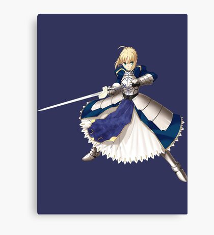 Fate Stay Night - Saber Canvas Print