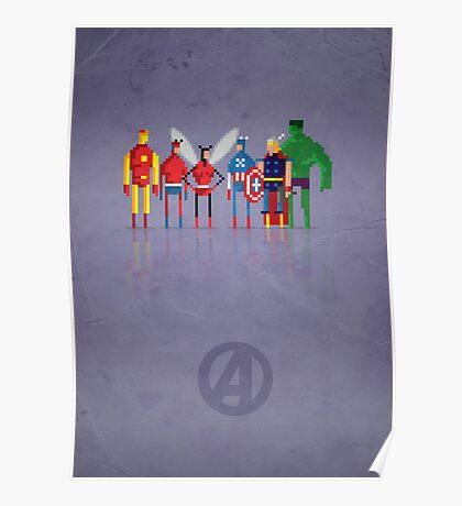 8-bit Marvelous Avenging Heroes Poster