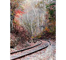 Autumn Tracks Photographic Print