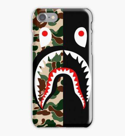 bape shark black iPhone Case/Skin