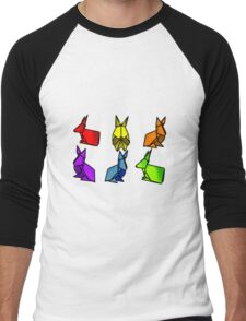 Rainbow Rabbits Men's Baseball ¾ T-Shirt