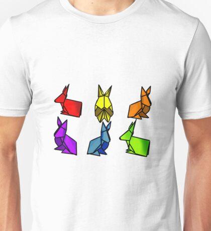 Rainbow Rabbits Unisex T-Shirt