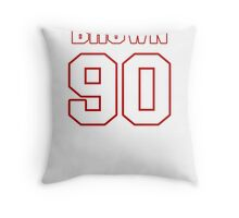 NFL Player Everette Brown ninety 90 Throw Pillow