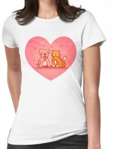 Cat and dog Womens Fitted T-Shirt