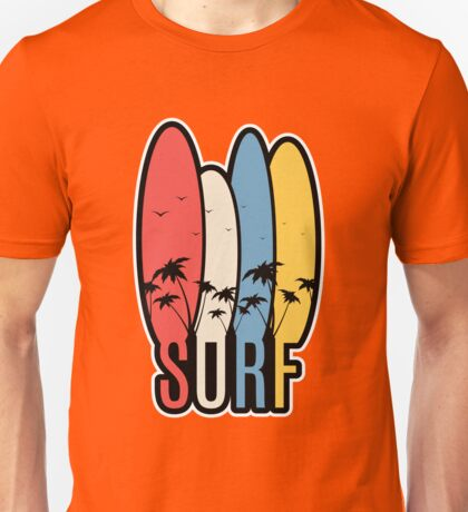 Surf Board Set  Unisex T-Shirt