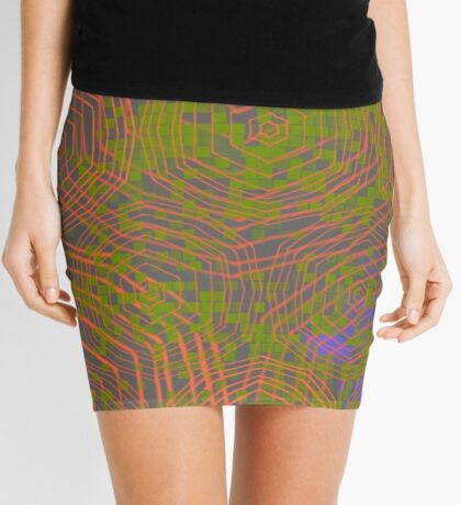 Neon Geometry Mini Skirt
