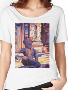 Statue at Angkor Wat Temple- Cambodia Women's Relaxed Fit T-Shirt