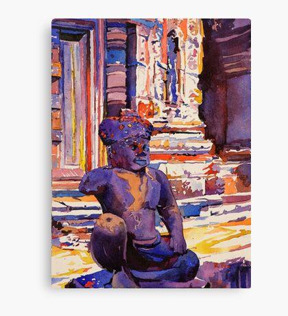 Statue at Angkor Wat Temple- Cambodia Canvas Print