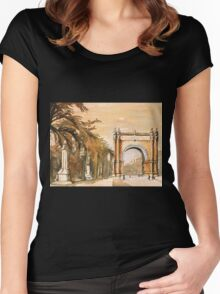 Triumpha Arch- Barcelona, Spain Women's Fitted Scoop T-Shirt