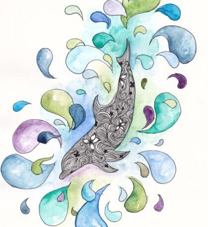 Colourful Dolphin Sticker