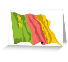 Old Cameroon Flag Greeting Card