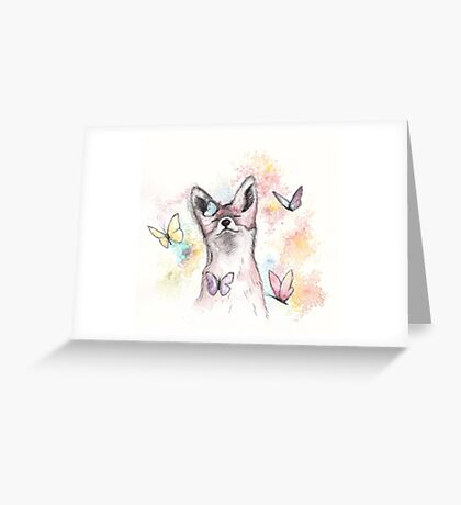 Butterfly Fox Greeting Card