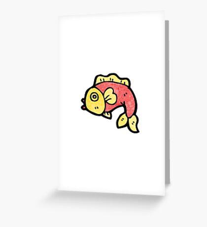 cartoon fish Greeting Card