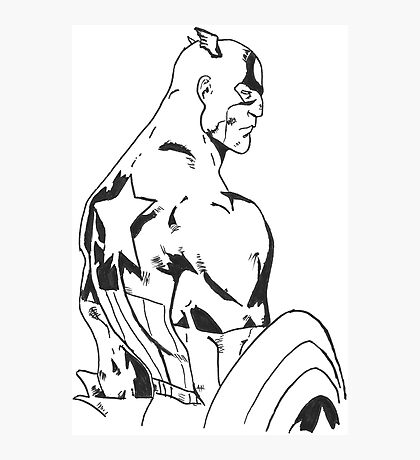 Captain america marvel comics Photographic Print