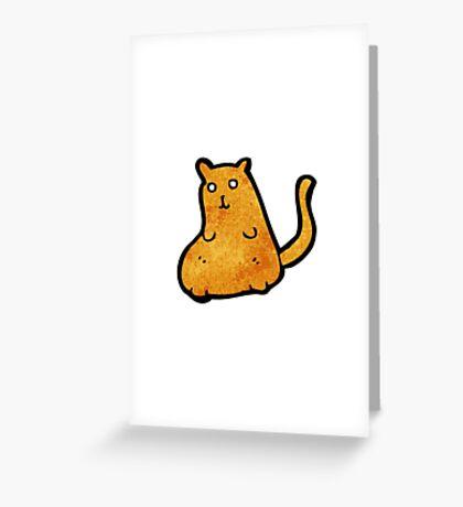 cartoon fat cat Greeting Card