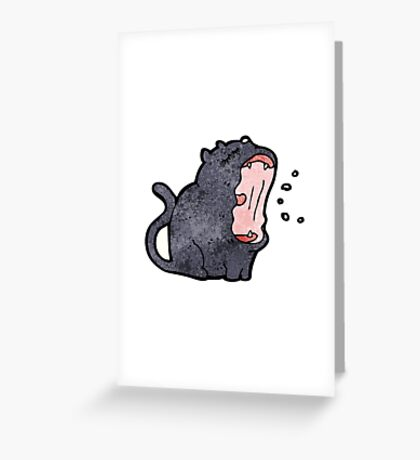 black cat cartoon Greeting Card