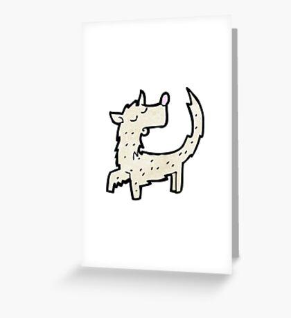 scruffy little dog cartoon Greeting Card