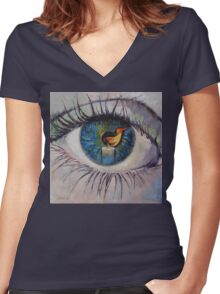 Candle Women's Fitted V-Neck T-Shirt