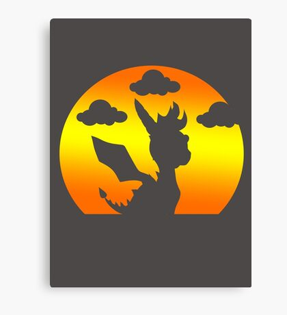 Sunset Spyro Canvas Print