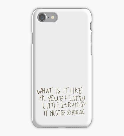 Sherlock - funny little brains iPhone Case/Skin