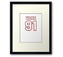 NFL Player Cameron Wake ninetyone 91 Framed Print