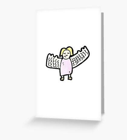 retro cartoon sticker Greeting Card