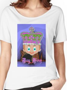 Toon Boy King. No 4a in a Toon Boy Series Women's Relaxed Fit T-Shirt