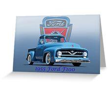 1955 Ford F100 Pickup  Greeting Card