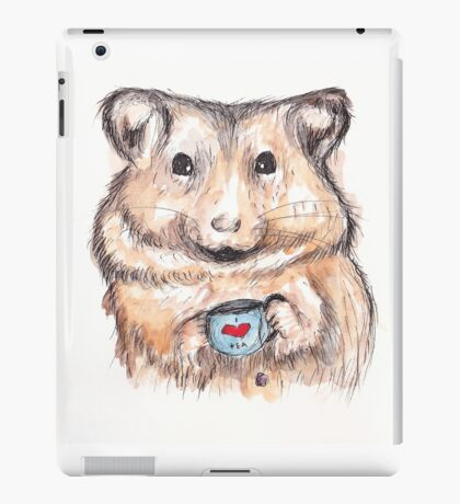 I Love Tea Hamster iPad Case/Skin