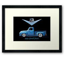 1955 Ford F100 V8 Pickup in Profile Framed Print