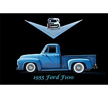 1955 Ford F100 V8 Pickup in Profile Photographic Print